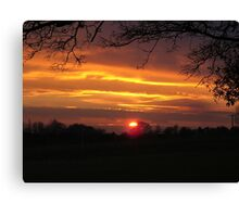 Evening Sunset Landscape Canvas Print