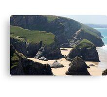 Bedruthen Steps - Cornwall, England Canvas Print