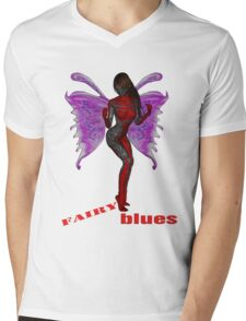 Fairy Blues. Mens V-Neck T-Shirt