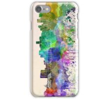 Denver skyline in watercolor background iPhone Case/Skin