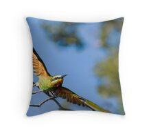 Bee-Eater Flight Throw Pillow