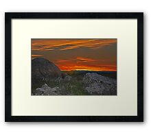 Wiradjuri Country Sunset HDR Framed Print