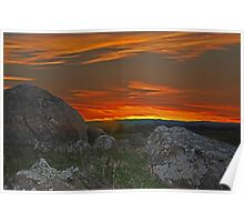 Wiradjuri Country Sunset HDR Poster