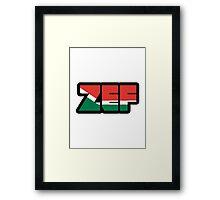 Zef (Afrikaans) Framed Print