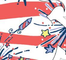 Lilly Unicorn Fireworks Sticker