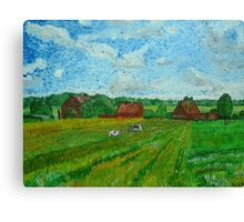 Landscape with Cottages and Cows Canvas Print