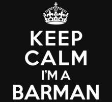 Keep Calm I'm a Barman Kids Clothes