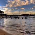 Walking In Paradise - Paradise Beach,Sydney (25 Exposure HDR Panoramic) by Philip Johnson