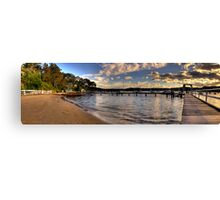 Walking In Paradise - Paradise Beach,Sydney (25 Exposure HDR Panoramic) Canvas Print
