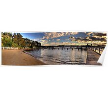 Walking In Paradise - Paradise Beach,Sydney (25 Exposure HDR Panoramic) Poster