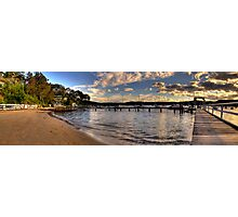 Walking In Paradise - Paradise Beach,Sydney (25 Exposure HDR Panoramic) Photographic Print