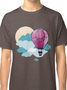Hot Air Balloon and Clouds Classic T-Shirt