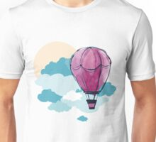 Hot Air Balloon and Clouds Unisex T-Shirt