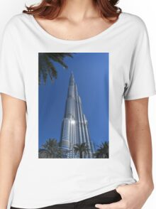 Burj Khalifa Dubai Mall, Dubai Women's Relaxed Fit T-Shirt