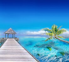 Relax at the Beach in Polynesia by Nasko .