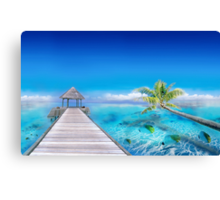 Relax at the Beach in Polynesia Canvas Print