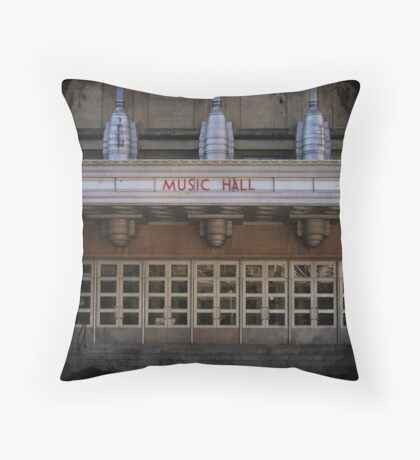 Music Hall Throw Pillow