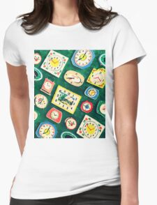 Assorted Clock Womens Fitted T-Shirt