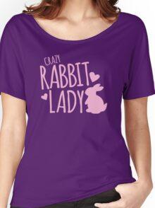 Crazy Rabbit (bunny) lady in pink Women's Relaxed Fit T-Shirt