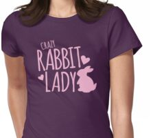 Crazy Rabbit (bunny) lady in pink Womens Fitted T-Shirt