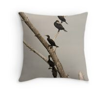 Double-crested Cormorant 2 Throw Pillow