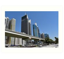 Dubai, Sheikh Zayed Road Art Print