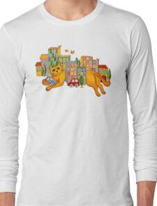 Catzilla Takes a Break Long Sleeve T-Shirt