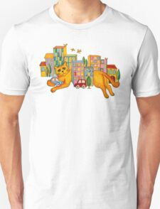 Catzilla Takes a Break Unisex T-Shirt
