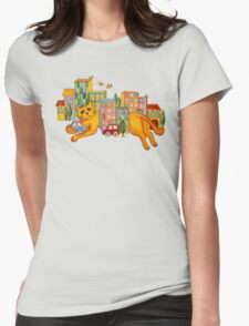 Catzilla Takes a Break Womens Fitted T-Shirt