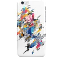 Distorted still life of the flower and the bird iPhone Case/Skin