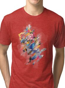 Distorted still life of the flower and the bird Tri-blend T-Shirt