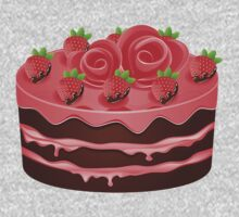 Decorated Chocolate Cake 2 Kids Clothes