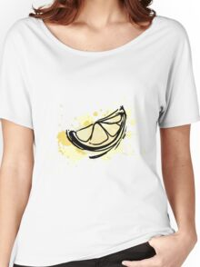 The stylized lemon colorful splashes.  Women's Relaxed Fit T-Shirt