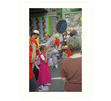 Carnival costume's, celebration. Art Print