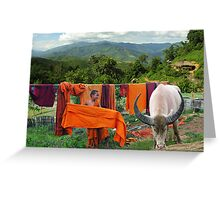 LAUNDRY - BURMA Greeting Card