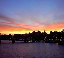 London at Sunset 3 by bywhacky