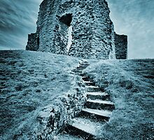 Ruined - Old Christchurch Castle Christchurch Dorset. by silvcurl09