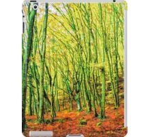 Autumn in a beech forest iPad Case/Skin