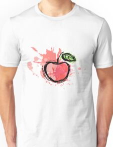 Abstract apple illustration. sketch ripe apple Unisex T-Shirt
