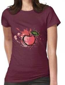 Abstract apple illustration. sketch ripe apple Womens Fitted T-Shirt
