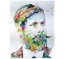 SIGMUND FREUD - watercolor portrait Poster