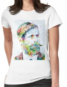 SIGMUND FREUD - watercolor portrait Womens Fitted T-Shirt