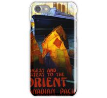 Orient Vintage Travel Poster Restored iPhone Case/Skin