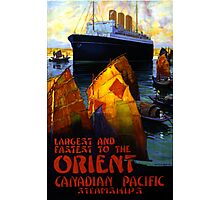 Orient Vintage Travel Poster Restored Photographic Print