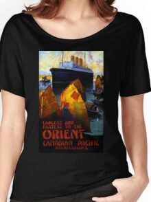 Orient Vintage Travel Poster Restored Women's Relaxed Fit T-Shirt