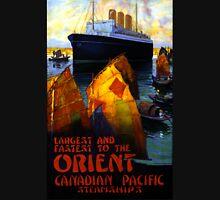 Orient Vintage Travel Poster Restored Unisex T-Shirt