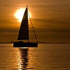 """Calm Waters"" - GBR Sailing Boat at Lepe beach Hampshire by silvcurl09"