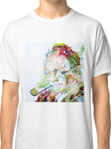RAYMOND CHANDLER - watercolor portrait Classic T-Shirt