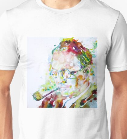 RAYMOND CHANDLER - watercolor portrait Unisex T-Shirt