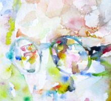 RAYMOND CHANDLER - watercolor portrait Sticker